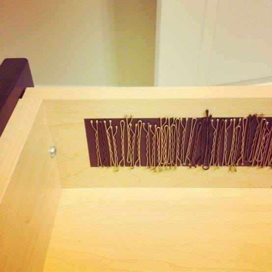 Bobby pin organization. | 16 Mom Trends That Are Blowing Up Pinterest