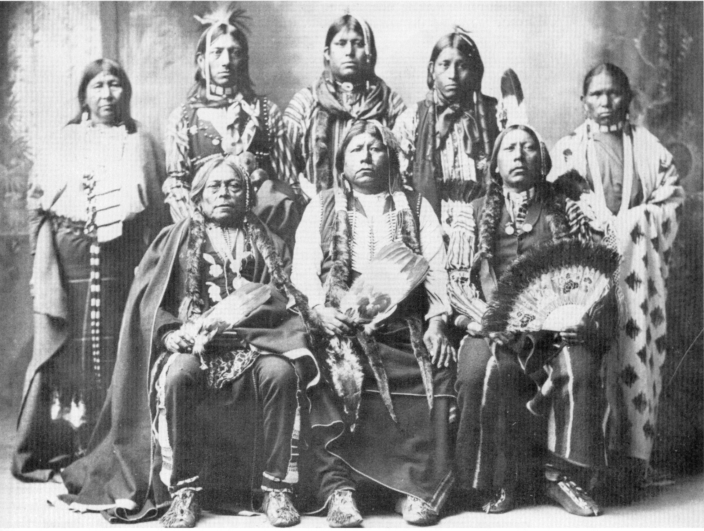 A Group Of Tonkawa Indians In Photo The Tonkawa Tribe Of Oklahoma