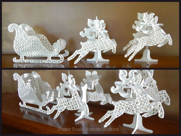 Royal Icing Lace Patterns Printable Sleigh