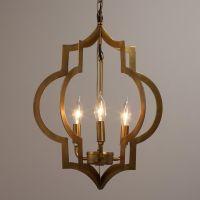 Gold Quatrefoil 3-Light Pendant Lamp   Alternative ...