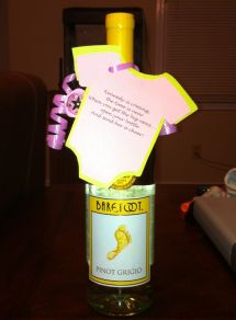 Wine Bottle Favors Baby Shower