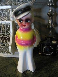 RARE Antique 1920's 1930's Carnival Prize Chalkware Kewpie ...