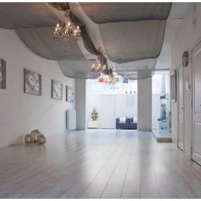 Yoga studio inner energy shop love the fabric above and chandeliers lanterns also best images about ideas on pinterest door handles home rh