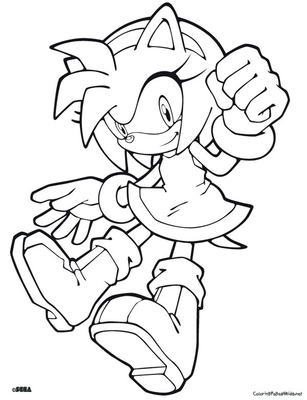 Sonic The Hedgehog Coloring Pages PdfThePrintable Coloring Pages