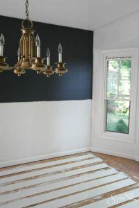 DIY Shiplap Walls - sheets of floor underlayment for ...