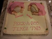 Baby shower cake for twin girls | Auntie lovings ...