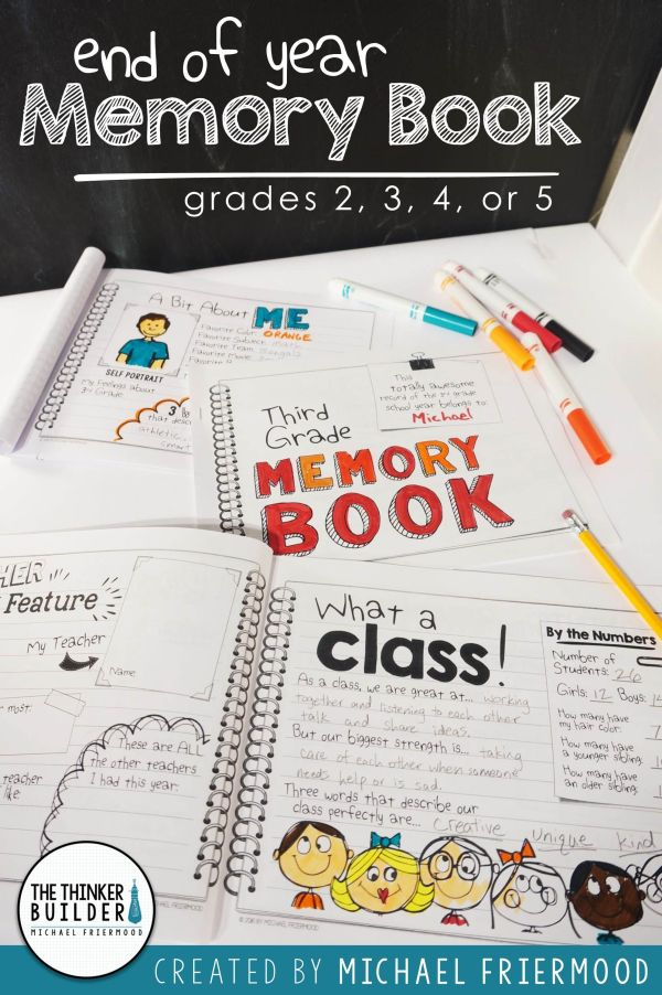 Second Grade End of Year Memory Book