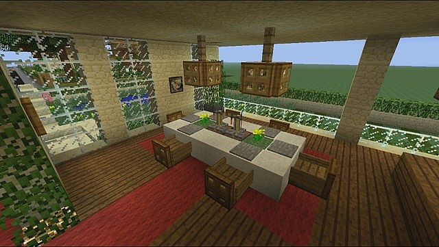 Architecture Mesmerizing Minecraft Dining Area Interior Design