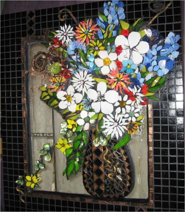 Ways Recycle Wine Bottles Dimensional Mosaic Of