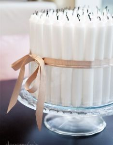 Diy birthday candle centerpiece instead of candles on cake also gorgeous by barracuda gateaux pinterest count rh