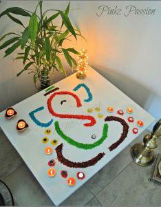Diwali decor home inspiration easy rangoli design ganesha also rh br pinterest