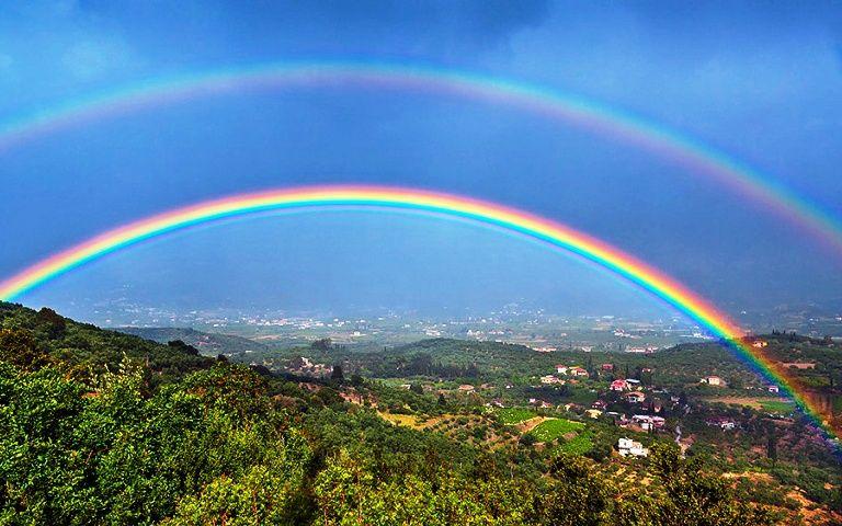 Gambar Pelangi Bertingkat  Double Rainbow  Beautiful