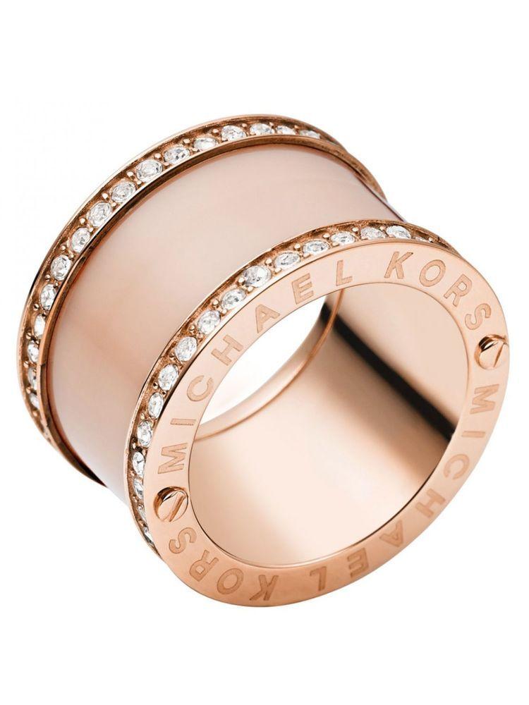 MICHAEL KORS MKJ4332 Rose Gold & Blush Acetate Pave Barrel
