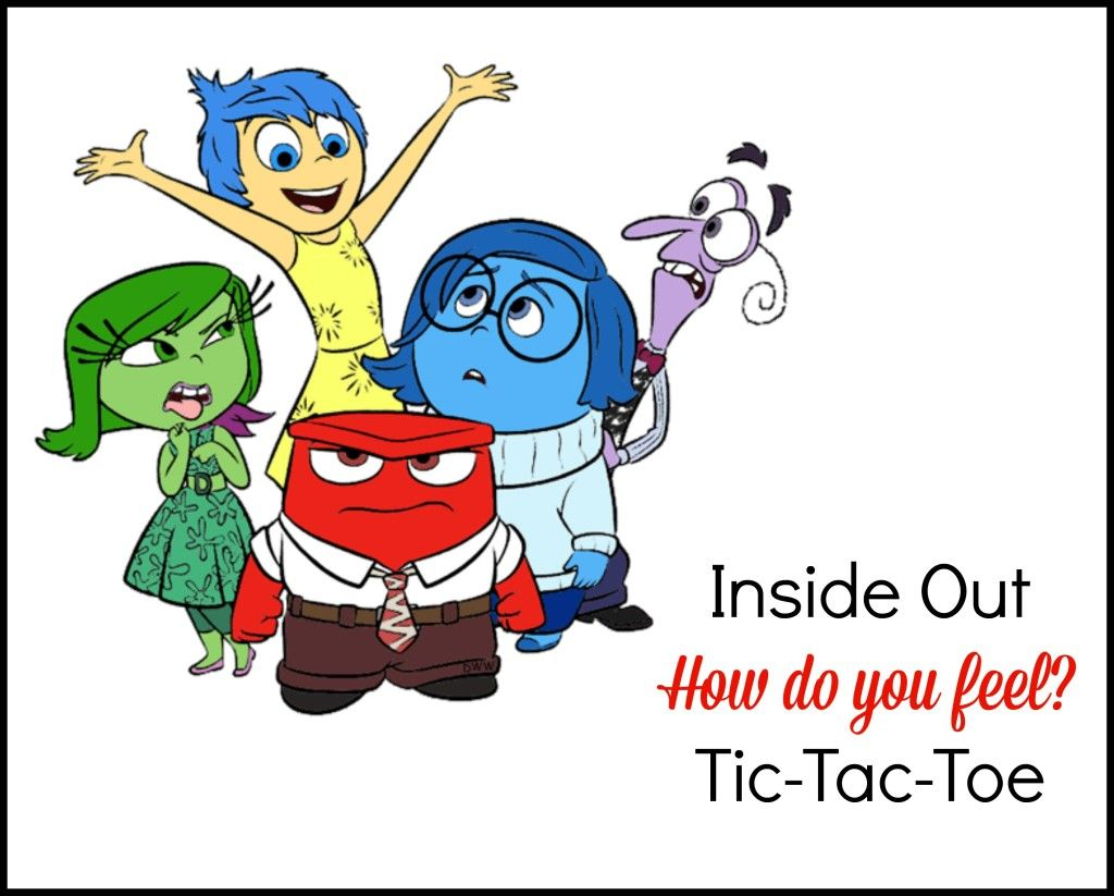 Inside Out How Do I Feel Tic Tac Toe Printable Game