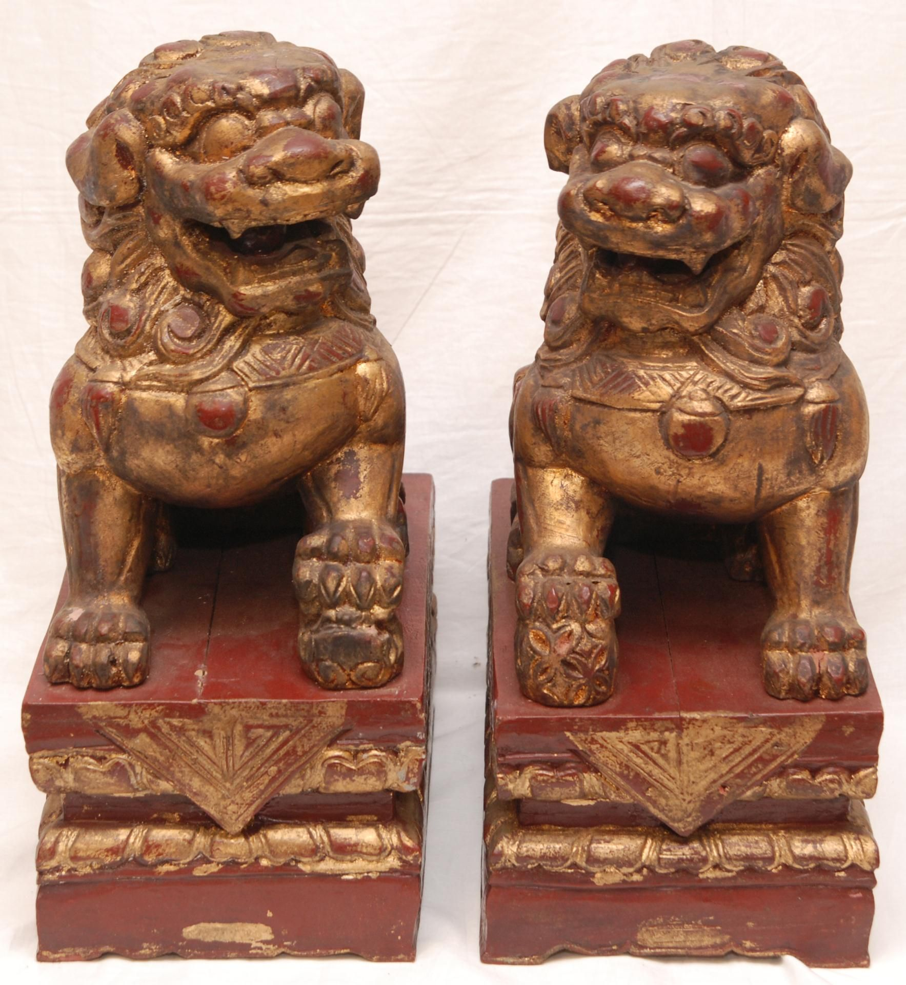 chinese wood carvings  chinese carved wooden foo dog