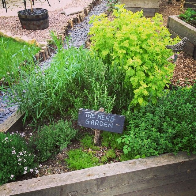 Herbs In A Wooden Sleeper Raised Bed In A Cot E Garden