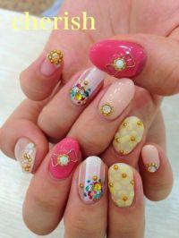 Cute Pink Yellow White Flower Daisies 3D Japanese Nail Art ...