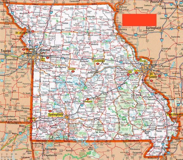 Road Map of Missouri  Yahoo Image Search Results