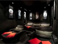 Chaise lounge media room chairs ~ | Home cinema ...