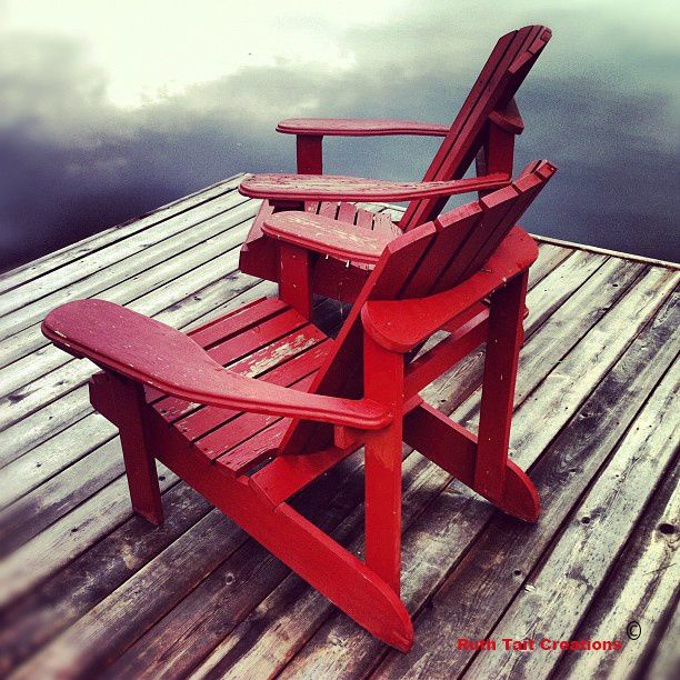 Muskoka Chairs on the dock  Canadian eh  Pinterest  House