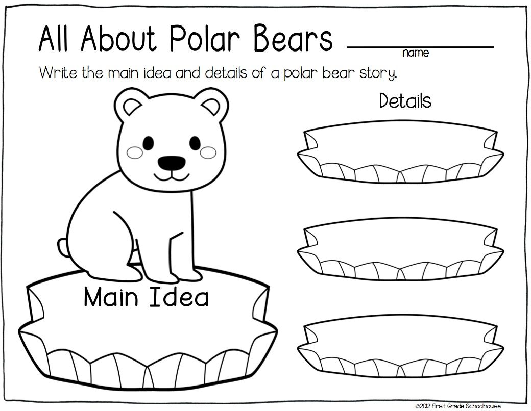 Main Idea Worksheet About Animals