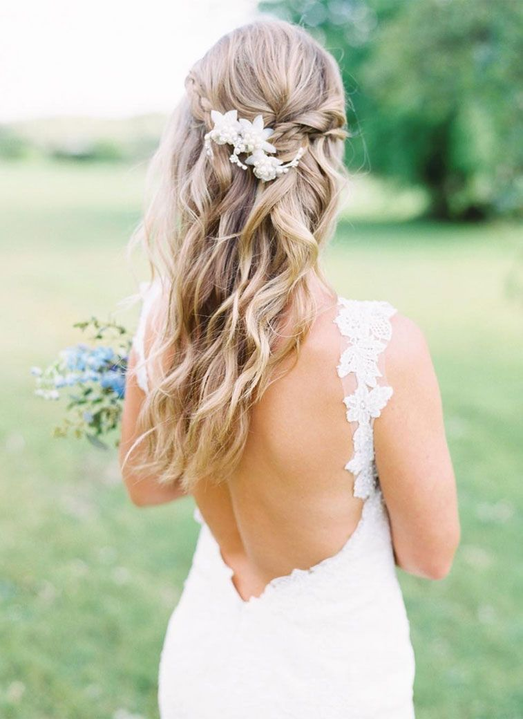 The Most Romantic Bridal Half Up Wedding Hairstyles
