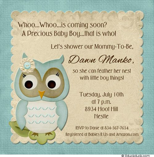 Baby Shower Invitation Ideas Feel Free To Use Any Of Our Owl