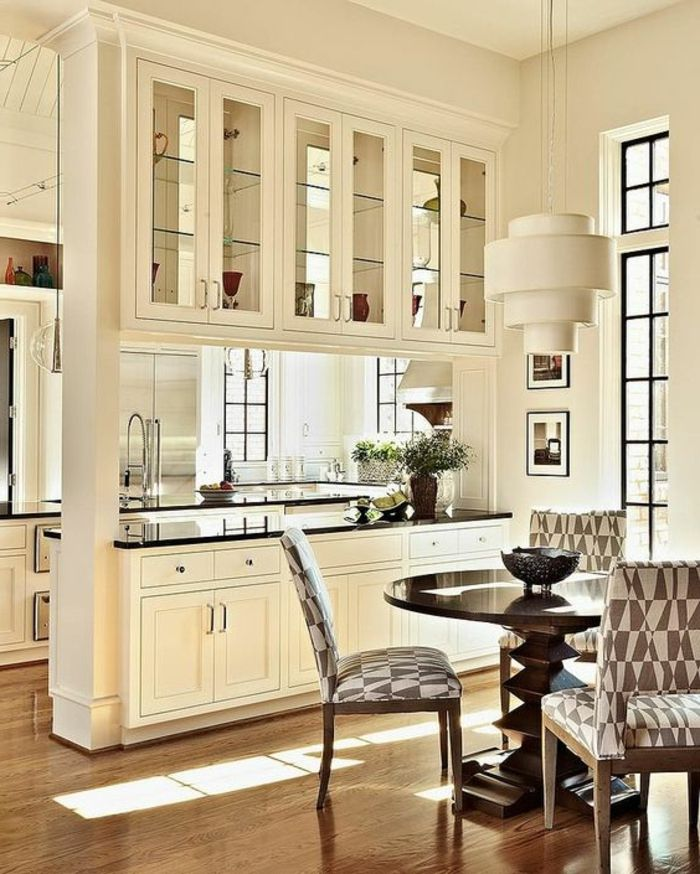 offene kche mit theke esszimmer vitrine abtrennen