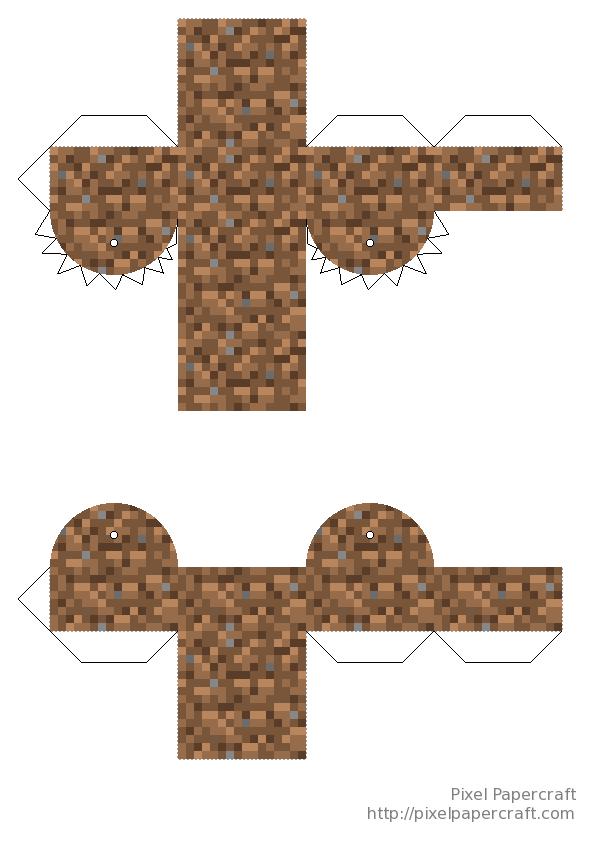 Golem Minecraft Mutant Snow Papercraft