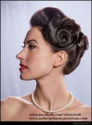 40s updos long hair - google