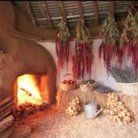 Root cellar with cob fireplace | Home and hearth ...