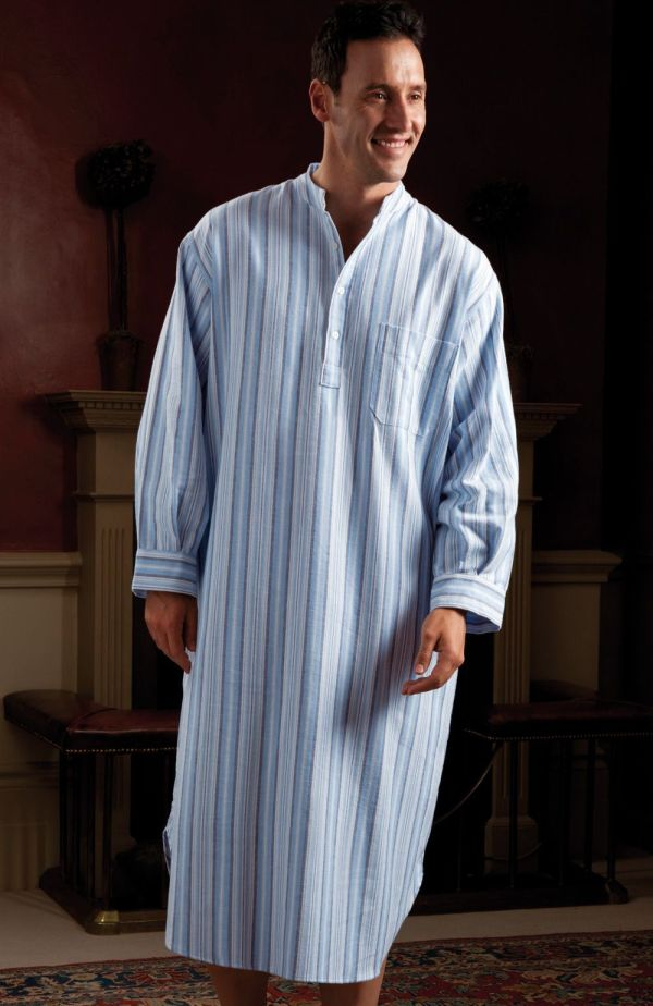 Cosy Longer Length Nightshirt In Soft Brushed Cotton