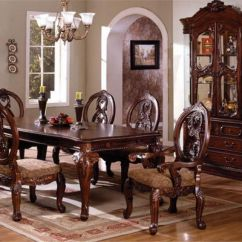 Elegant Dining Room Chairs Gym Bench Press Chair The Traditional Tuscany Table Set Is