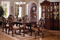 The elegant traditional Tuscany dining table set is the ...