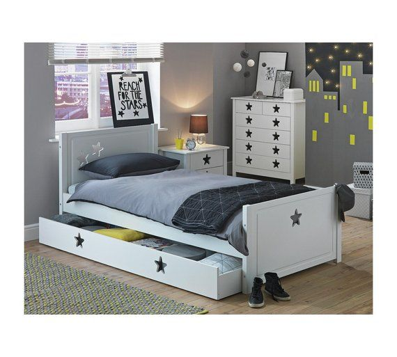 Collection Stars Single Bed With Drawer White At Argos Co Uk