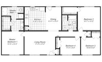 Modern Design 4 Bedroom House Floor Plans FOUR BEDROOM