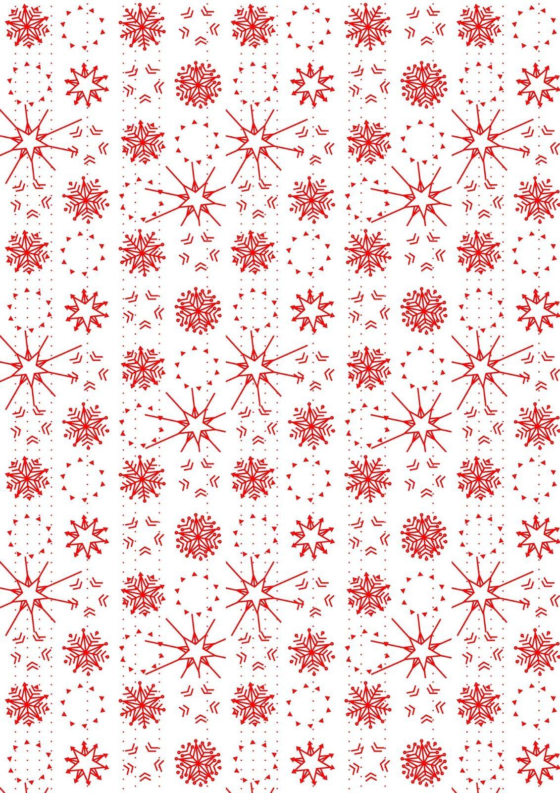 Free Printable Snowflake Pattern Paper