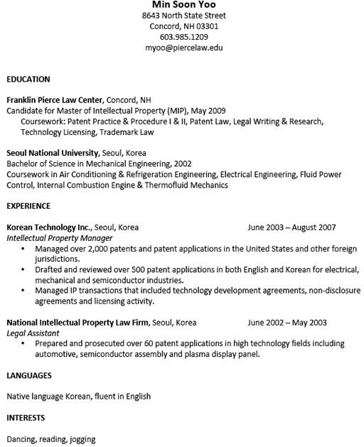 practice resume for students