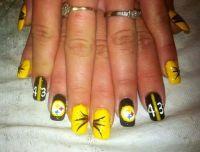Steeler nails | Steelers | Pinterest | Football nails ...
