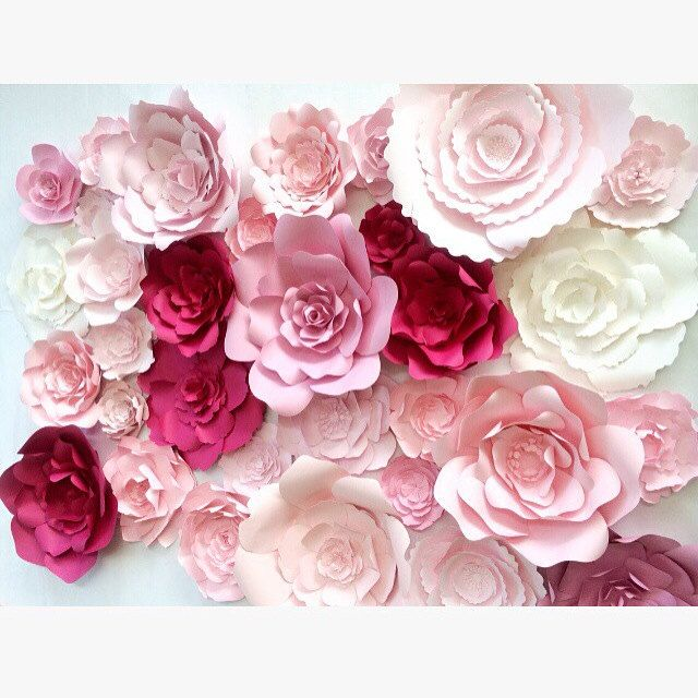 Large paper flower wall backdrop by paperflora also rh pinterest
