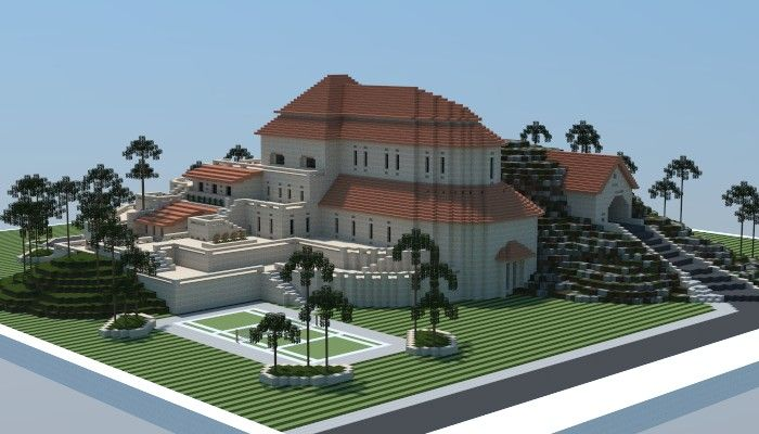 Sandstone Mansion Minecraft Building Ideas Download Plaza Fancy