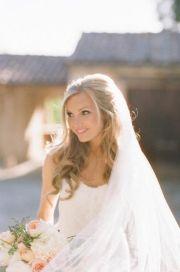 beach wedding dress bridal hair