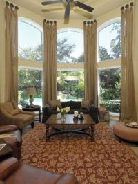Living Room Draperies And Window Treatments Design ...