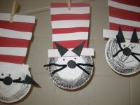 March/Dr Seuss: Paper plate cat in the hat | Dr. seuss ...