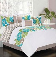 Hawaiian Island Hibiscus Tropical Queen Comforter Set (7