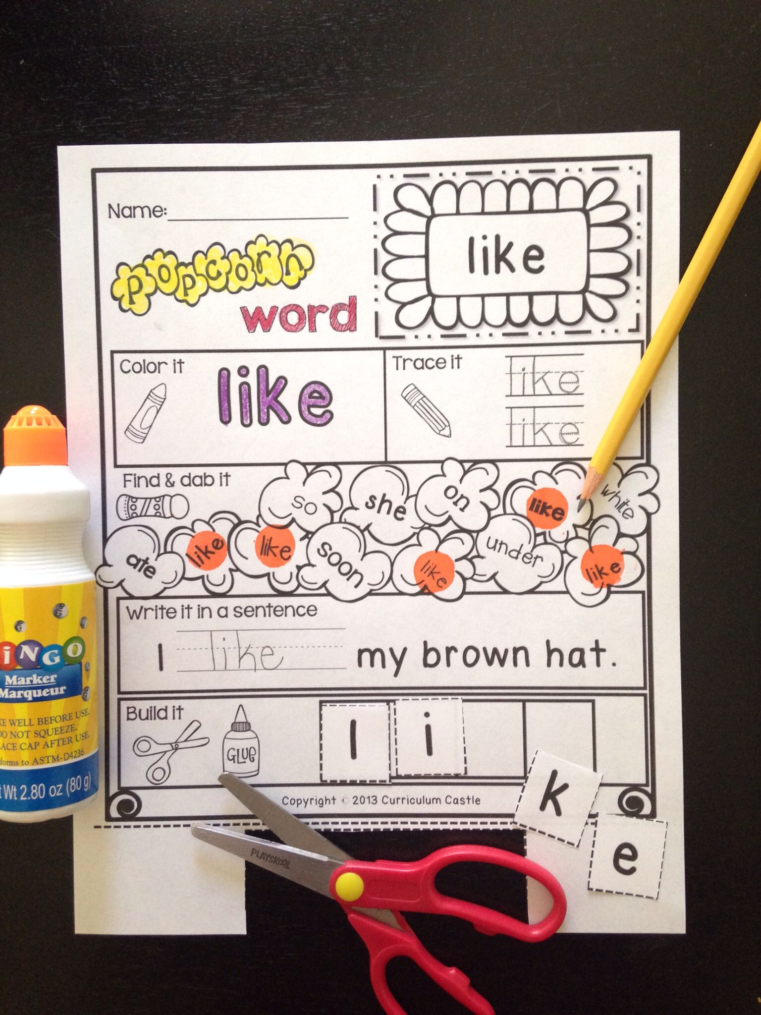 Kindergarten Primer Sight Words Popcorn Word Printables