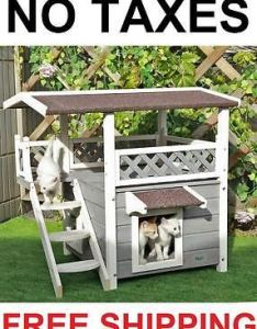 Find this pin and more on cat in home idea by admondantez also houses for outdoor feral cats backyard shelter condo kitty rh pinterest