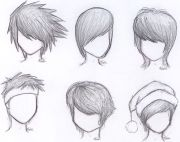 draw anime boy hair step
