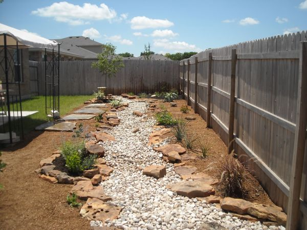 dry creek bed with decomposed granite