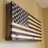 American wooden flag hidden gun cabinet secret compartment ...